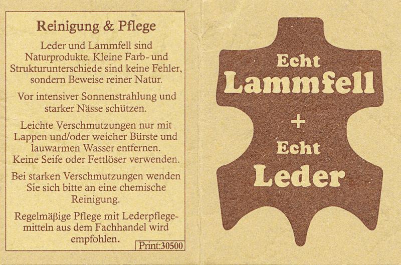 Lammfell Hüttenschuh